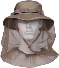 Khaki Military Boonie Hat with Full Mosquito Netting Protection