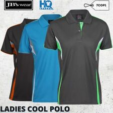 Ladies Cool Polo Women Sporty Polyester Collar Shirt Sports Casual Size 8-24 New