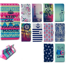 PU Leather Cute Patterns Case for LG Huawei Sony Samsung Phone Stand Flip Cover
