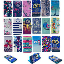 For Samsung Galaxy iPhone Protective Phone Case PU Leather Folio Stand Cover