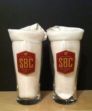 Susquehanna Brewing Company SBC Set of Two 16 oz Pint Beer Glasses - Brand New