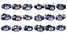 Yak bone alphabet letter ethnic hemp leather charm bracelet, multiple choices