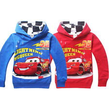 Trendy Cartoon Hoodie Cars Lightning McQueen Kids Coat Boys Girl Unisex Clothing