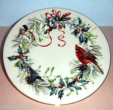 Lenox Winter Greetings Salad Dessert Plate Red Cardinal/Seasonal Motif New