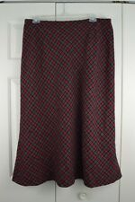 Cato Skirt Size 18/20W Red Black Plaid Long Modest No Slit Wool Blend