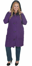New Plus Size Purple Knit Jacket With Black Faux Fur Trim Hood | Size 18 to 28