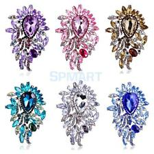 Bling Bling Fully-Jewelled Waterdrop Rhinestone Brooch Pin Jewelry Accessories