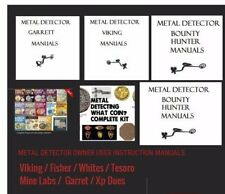 METAL DETECTOR USER MANUAL BOOK POINTER GARRETT TESORO MINELABS  #metaldetecting