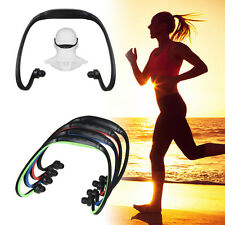 Sport Wireless Headset Headphone Earphone MP3 Music Player Micro TF SD Support