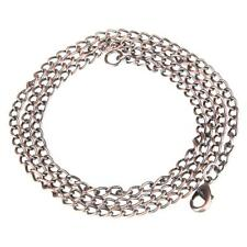 80cm Vintage Alloy Pocket Watch Chain Fob Necklace 5 Color for Choice
