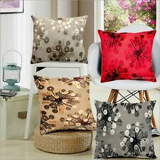 "NEW DECORATIVE DECOR THROW PILLOW/CUSHION COVER FLOCK FLORAL DESIGN 18""X 18"""