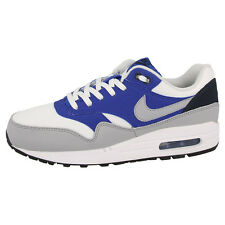 NIKE AIR MAX 1 GS SHOES TRAINERS WHITE BLUE 555766-105 LTD BW CLASSIC 90 SKYLINE