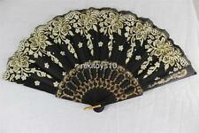 New Spanish Style Dance Party Wedding Lace Folding Hand Held Flower Fan