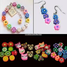 NEW 100pcs colorful Fimo Polymer Clay Fruit Spacer Beads for Bracelets Pendant