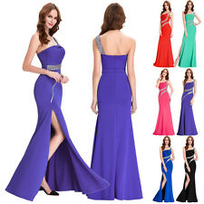 One Shoulder Long Prom Dress Formal Party Evening Wedding Gown Bridesmaid Dress
