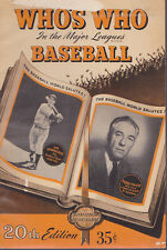 VINTAGE BASEBALL BOOK-WHO'S WHO IN THE MAJOR LEAGUES-20TH EDITION-1952-ITEM 2