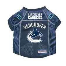 NEW VANCOUVER CANUCKS PET DOG PREMIUM JERSEY w/NAME TAG ALL SIZES LICENSED