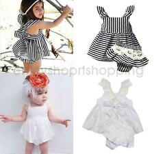 Lace Cotton Strappy Toddler Girl Dress Summer Kids Party Princess Pageant Dress