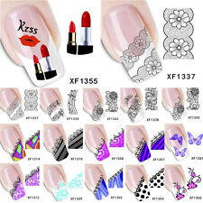 Nail Art Decoration Water Transfer Stickers Manicure Acrylic Tips DIY 3D Flower