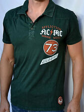 Affliction American Customs SPEEDWAY Men's Polo Shirt NEW A4820 - Green