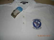 Marines VMFA-115 Silver Eagles Embroidered Polo Squadron Shirt