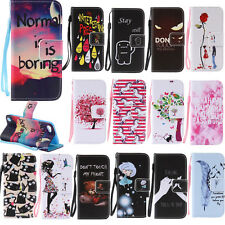 PU Patterned Wallet Leather Case for Samsung Galaxy Phone Protective Stand Cover