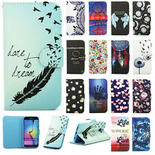 Patterned Case for Samsung Galaxy Phone PU Leather Stand Wallet Protective Cover