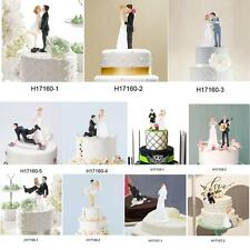 Bride&Groom Wedding Cake Topper Romantic Wedding Party Decoration Figurine R2H3