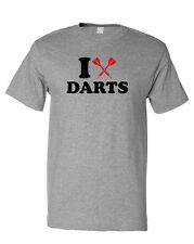 I LOVE DARTS SPORT Unisex Adult T-Shirt Tee Top