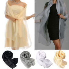New Women Fashion Long Solid Soft Chiffon Shawl Scarf Scarves Wrap Stole