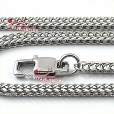 Mens 2.2mm 3mm Stainless Steel Necklace Chain Fox Tail  Franco Box Chain