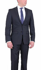 DKNY Skinny Slim Fit Charcoal Gray Two Button Wool Suit