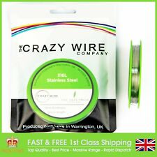 0.36mm (27 AWG) -316L Marine Grade Stainless Steel Wire - Various Spools