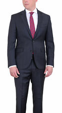 DKNY Skinny Slim Fit Charcoal Gray Plaid Two Button Wool Suit