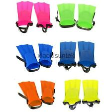 Adjustable Swim Learning Fins Toddler Swimming Kids Adult Floating Flippers