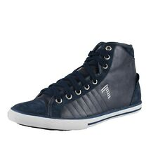 Emporio Armani EA7 Women's Hi Top Suede Leather Sneakers Shoes 4.5 5