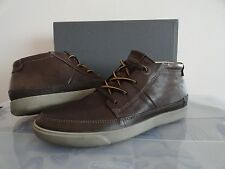NEW MENS ECCO GARY LOW CUT LACE LEATHER ANKLE BOOTS COCA BROWN