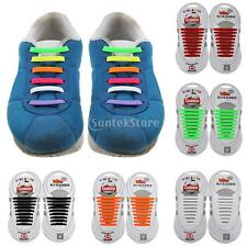 12pcs/Set Elastic Silicone Shoelaces No Tie Laces Shoe Sneakers Trainer