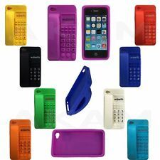 TPU Silicon Rubber Telephone Handset Style Back Case Cover For iPhone 4S 4G 4
