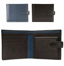 Visconti Mens Real Leather Wallet Bifold Mans Coins Credit Card VINCENT PM100