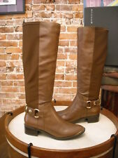 Steve Madden Ranaldo Tan Brown Leather Riding Boot New
