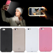 For iPhone 6 6S Plus Luxury LED Light Up Selfie Luminous Phone Back Cover Case