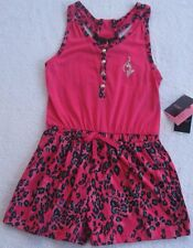 Baby Phat Girls Fuchsia & Black Animal Print Romper