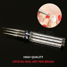 Pro Crystal Rhinestone Nail Art Brush Liner Pen Handle Brush Diamond Drawing Pen
