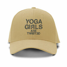 Yoga Girls Are Twisted Embroidery Embroidered Adjustable Hat Baseball Cap