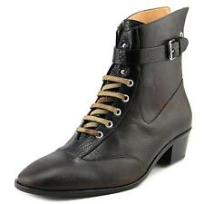 Vivienne Westwood Cuban Boot Men  Round Toe Leather  Ankle Boot