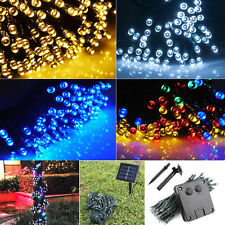100 LED Solar Powered Fairy Lights Christmas Outdoor Lamps Garden Party Decor