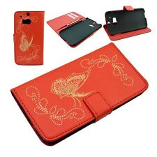 Synthetic Flip Card Holder Leather Skin Pouch Cover Case For HTC ONE 2 2014 M8