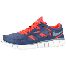 NIKE FREE RUN 2 EXT WOMEN SHOES BLUE HOT LAVA 536746-406 LADIES RUNNING 5.0