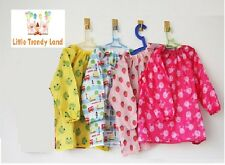 Boys Girls Kids Art Craft Paint Smock Apron Shirt Waterproof Kindergarten School